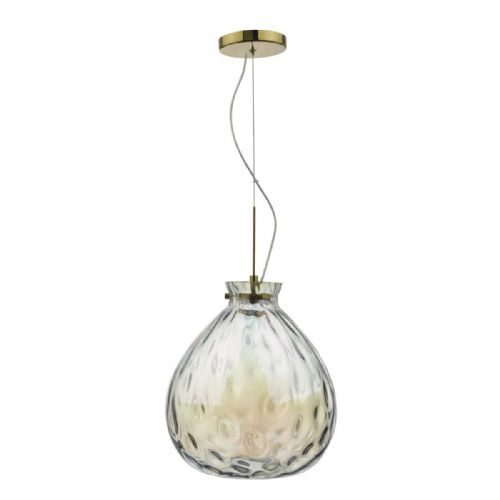Azia Pendant French Gold & Glass LED (double insulated) BXAZI0135-17